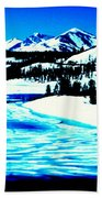 Shiny Snow Magic On Lake Beach Towel
