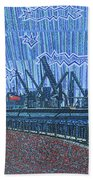 Shipyards A Newport News Beach Towel