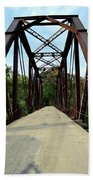 Shirley Railroad Bridge 1 Beach Towel