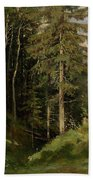 Shishkin, Ivan 1832-1898 Forest Clearing Beach Towel