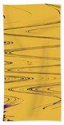Shoestring Eucalyptus Abstract Beach Towel