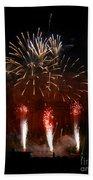 Shooting The Fireworks Beach Sheet