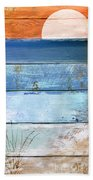 Shore And Sunset Beach Towel