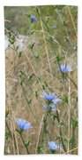 Shore Flowers Beach Towel