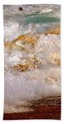 Sunset Beach Splash Beach Towel
