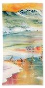 Shoreline Watercolor Beach Towel