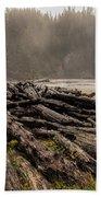 Short Sands Log Slash Beach Towel