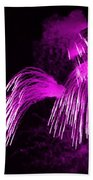 Showers Of Pink Color Splash With Firework  Beach Towel