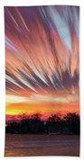 Shredded Sunset Beach Towel