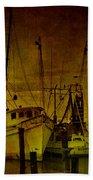 Shrimpboats In Apalachicola  Beach Towel