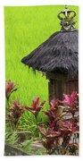 Shrine In Rice Field Beach Sheet