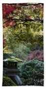 Shrine In Watercolors Beach Towel