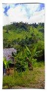 Shuar Hut In The Amazon Beach Towel