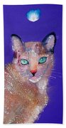 Siamese Cat Beach Towel