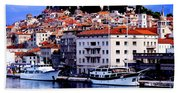 Sibenik Waterfront Beach Towel