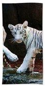 Siberian Tiger Cubs Beach Towel