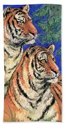 Siberian Tiger Beach Towel