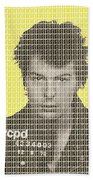 Sid Vicious Mug Shot - Yellow Beach Towel