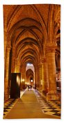 Side Hall Notre Dame Cathedral - Paris Beach Towel