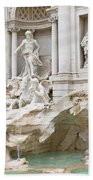 Side View Of The Trevi Fountain In Rome Beach Towel