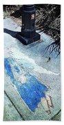 Sidewalk Angel Beach Towel