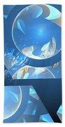 Sienna Blue Honeycomb Beach Towel