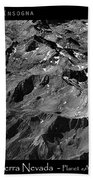 Sierra Nevada's Planer Earth Bw Beach Towel