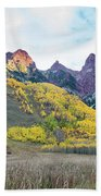 Sievers Peak And Golden Aspens Beach Towel