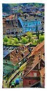 Sighisoara From Above Beach Towel