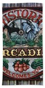 Sign - Welcome To Arcadia Beach Towel