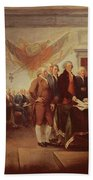 Signing The Declaration Of Independence Beach Towel by John Trumbull