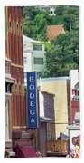 Signs And Historic Buildings Beach Towel