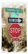 Signs Beach Towel