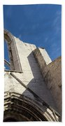 Silent Witness - Carmo Convent Roofless Ruin In Lisbon Portugal Beach Towel