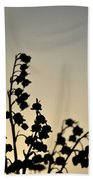 Silhouette Of Lilies Of The Valley 2 Beach Towel