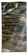 Silver Cascades - Crawford Notch New Hampshire Beach Towel