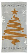 Silver Gold Tree Beach Towel