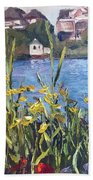 Silver Lake Blossoms Beach Towel