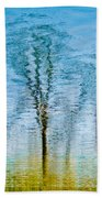 Silver Lake Tree Reflection Beach Towel