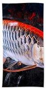 Silver Orange Arowana  Beach Towel