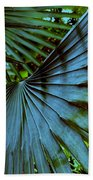 Silver Palm Leaf Beach Towel