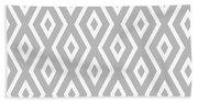 Silver Pattern Beach Sheet