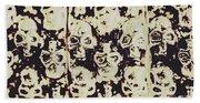 Silver Skull Art Beach Towel
