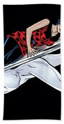 Silver Surfer Beach Towel
