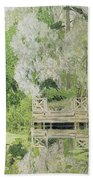 Silver White Willow Beach Towel