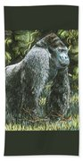 Silverback-king Of The Mountain Mist Beach Towel
