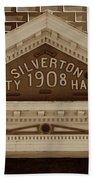 Silverton City Hall 1908 Beach Towel