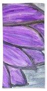 Simple Purple  Beach Towel