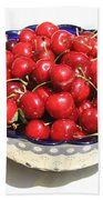 Simply A Bowl Of Cherries Beach Towel