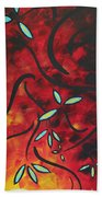 Simply Glorious 1 By Madart Beach Towel by Megan Duncanson